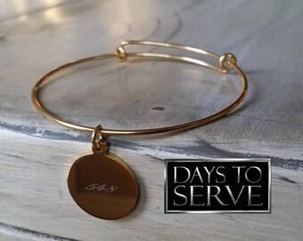 LDS Missionary Gift, Gold Bangle Bracelet, LDS Mission, Sister Missionary Gift, Missionary Bangle, Gold Plated Bangle