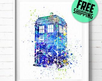 Tardis print, Dr Who poster, Doctor Who print, Tardis poster, Doctor Who poster, Tardis art, abstract, Police Call Box, wall art, decor, 19