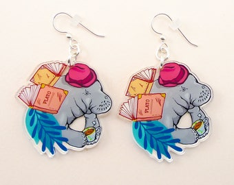 Manatee jewelry, Manatee gift, Manatee earrings, cute earrings, animal jewelry, Manatee, quirky jewelry, quirky gift, manatee art