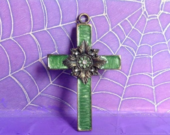Stained glass fancy Cross