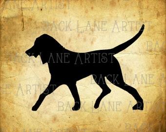 Puppy Dog Silhouette Clipart  Illustration Instant Download PNG JPG Digi Line Art Image Drawing L074