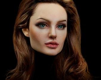 MODOLL - 1/3 Size Angelina Jolie BJD Head