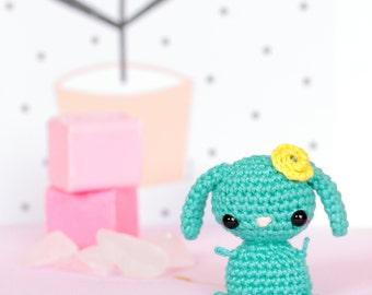 Kawaii bunny stuffed animal doll, Crochet bunny amigurumi, Bunny kawaii plush animals, Kawaii crochet rabbit, Cute plush bunny, Desk toys