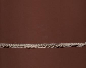 Beige wide cotton lace 1 cm (stranded 3782)