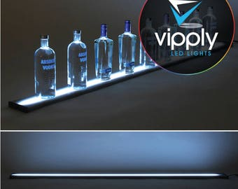 "72""  LED Bar Shelf, Bottle Display, Light Shelf, Display Shelf, Liquor Bottle Shelving"