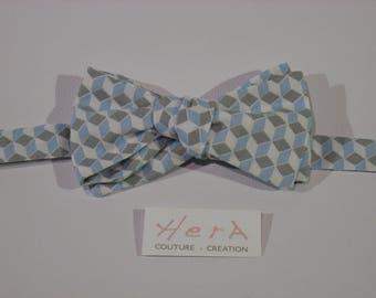 Bow tie men tie blue Harlequin