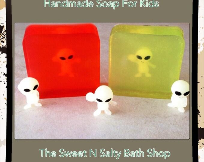 Glow-In-The-Dark Alien Toy Soap