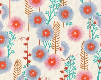 Cotton + Steel - Santa Fe Collection - Hollyhocks in Natural