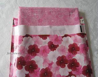 50 Pink Mailers, Mailing Envelopes, Pink Envelopes, Shipping Envelopes, Poly Mailers, Plastic Shipping Bags, Pink Flowers, Hot Pink 10x13