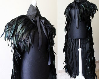 READ item DESCRIPTION !! Made to order. Feather cloak with pelerine