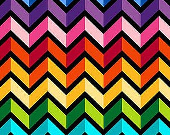Northcott - Colorwork Concepts - 20802-99 - Chevron - Fabric by the Yard