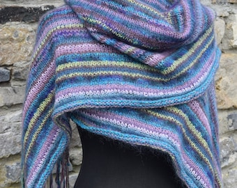 Fringed shawl wrap