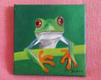Frog. Original Oil Painting