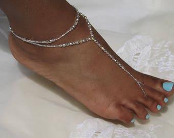 Swarovski Barefoot Sandals Bridal Jewelry Beach Wedding Foot Jewelry Beach Wedding Anklet Bridesmaids Gift Bridal Foot Sandals Barefoot