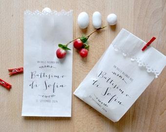 Kit 10 sacchetti per confettata personalizzati