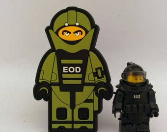 Custom EOD Lego Military Army Police Morale Patch