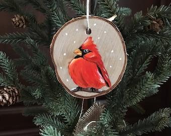 Rustic Cardinal Ornament