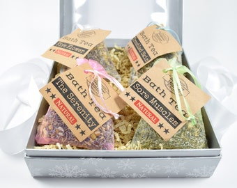 Gift Box Set Bath Tea Gift Basket, Bath Tea Bags Sets, Bath Tea Gift Baskets, Bath Tea Gift Set, Bath Tea Set, Bath Teas, Tub Tea, Bath Soak