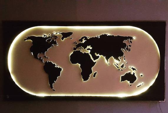 Kindle world planisfero illuminato arredamento da parete for Mondo convenienza illuminazione