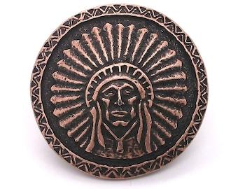 "Southwest Chief Antique Copper Concho Screwback 1.25"" 7580-10 by Stecksstore"