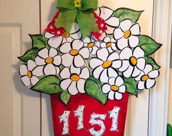 Daisy Bouquet Door Sign