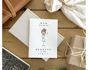 Mother's Day Card // funny mothers day card, card for mom, funny card for mom, flintstone, mom pun, pun card, punny, mommy card, mum card,