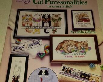 Cross Stitch Booklet Cat Designs