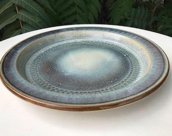 12 Inch Stoneware Dinner Plate Handmade in Colorado