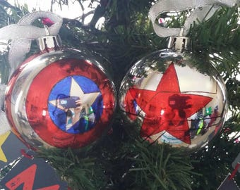 Captain America Winter Soldier Christmas Ornaments