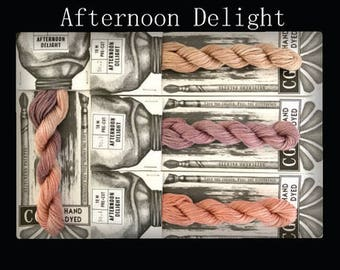 Afternoon Delight Cottage Garden Threads Stitchers Palette -CGT- 6 Strand Cotton embroidery thread- Hand Dyed Thread-Quilting Australia