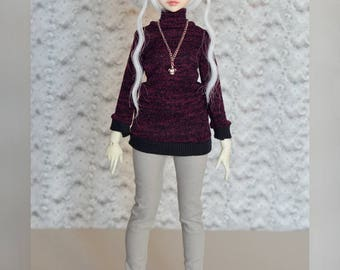 cozy knitted sweater 'plum dreams' for YoSD, MSD and SD
