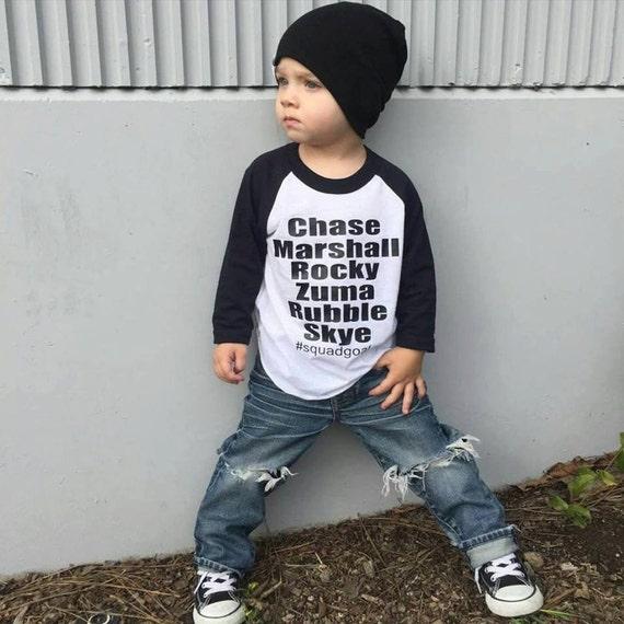 Squad Goals Patrol Shirt Paw Birthday Patrol Baby Boy
