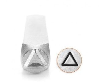 10% Off Clearance 6mm Triangle Metal Stamp, ImpressArt Shape & Pattern Design Stamp, Impress Art Stamps, DIY Jewelry Making Metal Stamping T