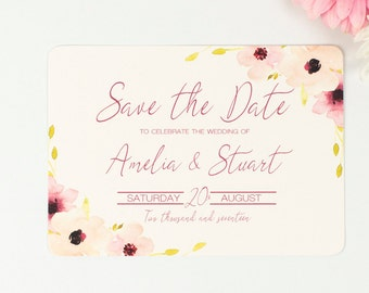 Save the Date - Floral Chic