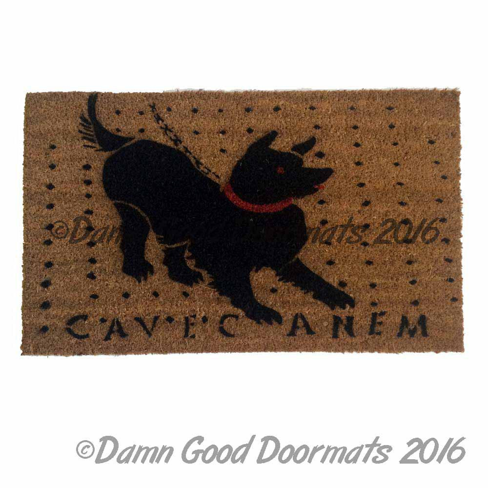 Cave Canem Roman mosaic doormat latin beware of the dog
