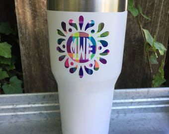 Splash Monogram Vinyl Decal