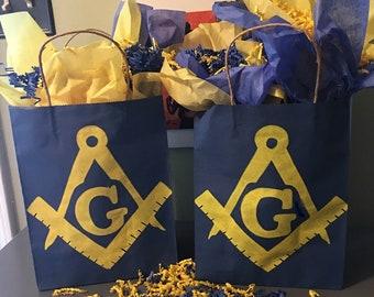 Freemasonry Gift Bags - Handpainted