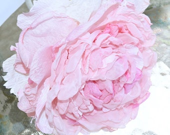 Large Pink Peony, Glamelia, Blush Pink Peony, Large Pink Rose, Pink Gift, Wedding Flower, Anniversary Flower, Perfect Handmade Peony Bloom