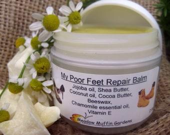 Foot Repair Balm, Salve for Calloused, Blistered Feet, Foot Massage, Chapped Hands, Finger Cracks