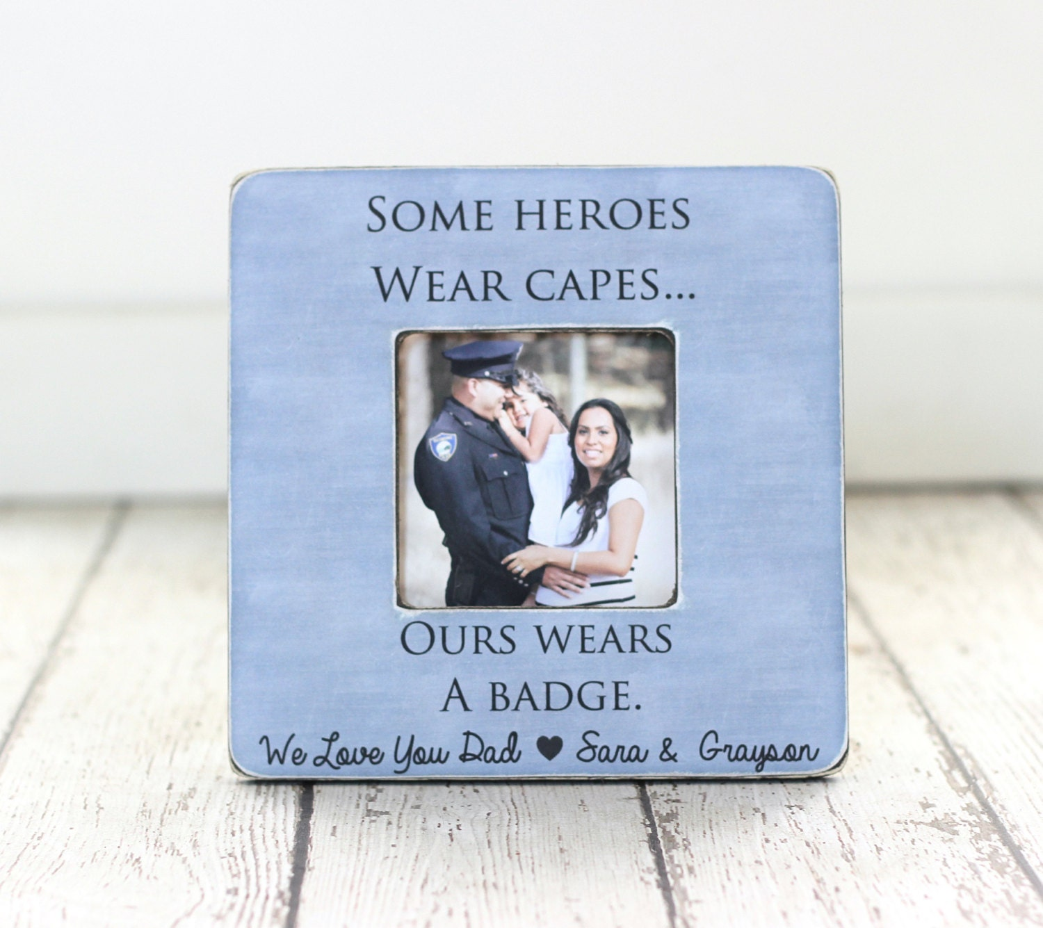 Policeman Police Officer Dad Father Personalized Picture Frame