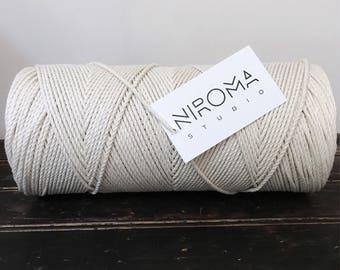 3 mm rope, macrame rope, natural cotton rope, bulk cotton rope, 3 strand rope, macrame cord, cotton macrame rope, bulk rope, 3 ply rope