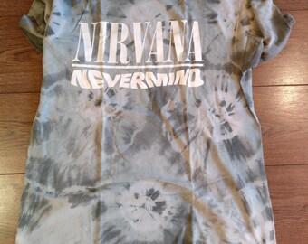 Rare Vintage Nirvana Shirt - Nevermind XL - 1991/1992 - Tie Dye - Hanes XL