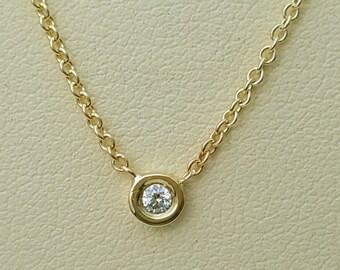 Diamond necklace,bezel diamond necklace,gold diamond necklace,diamond necklace gold,diamond bezel necklace,diamond solitaire necklace.