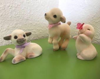Hallmark flocked Merry Miniatures for Easter