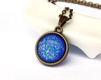 Mermaid Necklace, globe necklace, choker necklace, tiny orb necklace, globe pendant, mystical necklace, Pisces, Libra, Aquarius Sagittarius