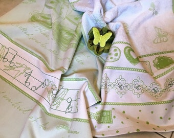 Special Offer: 2 towels butterflies Music-swallows and Butterflies finished dishtowels
