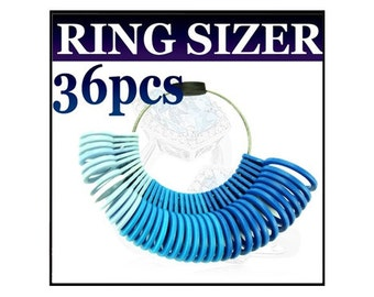 36pc Plastic Ring Sizer US and International sizes - RS01P