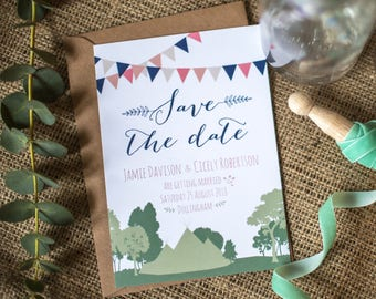 Rustic Nature & Woodland Wedding Save the Date
