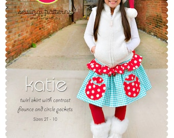 Katie Skirt PDF Downloadable Pattern by MODKID... sizes 2T to 10 Girls included - Instant Download