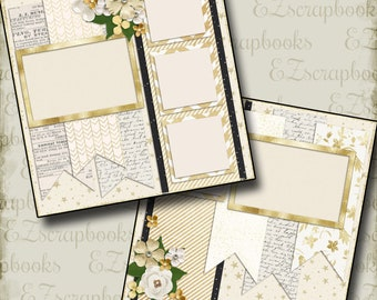 THE WEDDING - Ten - 2 Premade Scrapbook Pages - EZ Layout 672